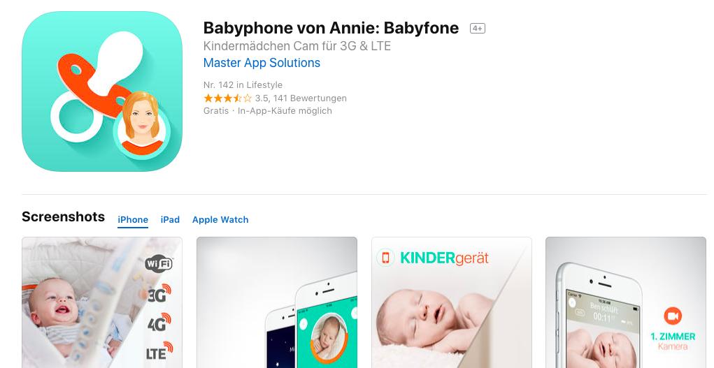 Babyphone App Annie